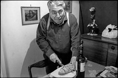 Grand Pa (Damien Vignol) Tags: leica family white black france bread wine kodak trix picture hc110 400 epson mp 35 summilux asph v700