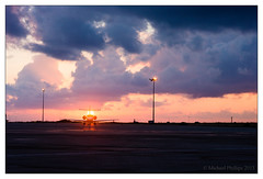 Sunset at Paphos Aiporrt 2 (mikeyp2000) Tags: sunset sky sun silhouette clouds airplane airport jet aeroplane paphos learjet pafos bizjet
