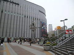 The new terrace at Osaka Station (seikinsou) Tags: clock station japan stairs spring bell terrace jr osaka umeda yodobashi osakacity