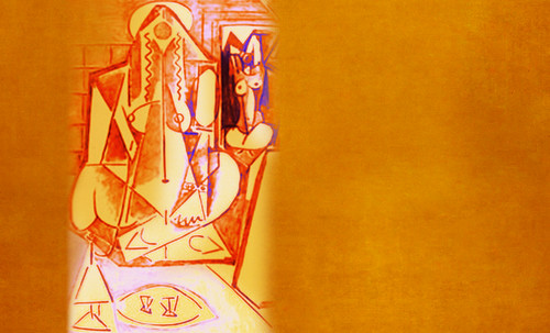 """Odaliscas (Mujeres de Argel) yuxtaposición y deconstrucción de Pablo Picasso (1955), síntesis de Roy Lichtenstein (1963). • <a style=""""font-size:0.8em;"""" href=""""http://www.flickr.com/photos/30735181@N00/8746881079/"""" target=""""_blank"""">View on Flickr</a>"""