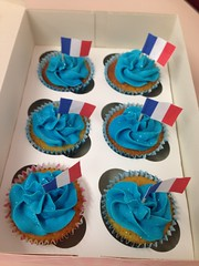 The blue cupcakes! (s0ph22) Tags: blue france french cupcakes sponge frosting skyblue buttercream uploaded:by=flickrmobile flickriosapp:filter=nofilter