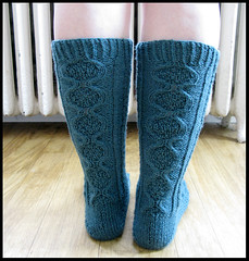 Inglenook (janne23lee) Tags: wool socks teal knit cables alicestarmore brooklyntweed housesocks