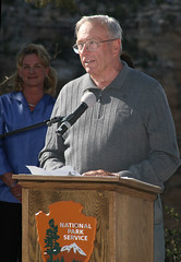 Bright Angel Trailhead Renovation Dedication - Bill Sweeney  - May 18, 2013 - 0185 (Grand Canyon NPS) Tags: project nationalpark hiking grandcanyon sightseeing hike celebration hiker renovation ribboncutting improvement southrim sweeney brightangeltrail grandcanyonassociationdedication