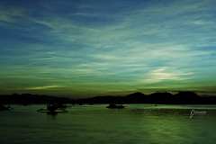 Green Sea (jalmonte1) Tags: sunset sea philippines wharf coron baywalk palawan splittoning coronbaywalk coronwharf