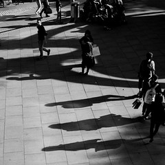 you go your way, part II (donvucl (busy, slow catch-up)) Tags: street urban bw london shadows squareformat lightandshade donvucl