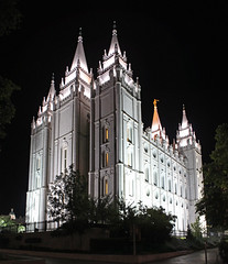 Temple at Night (rgb48) Tags: night temple utah saltlakecity mormon stitched
