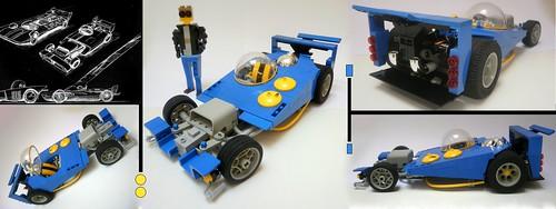 car honda lego hotrod
