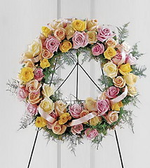 FTD Vibrant Sympathy Wreath (dobdeals.com) Tags: flowers wreaths eventsupplies