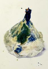 Swansong of a Fig (larosecarmine) Tags: fig fruit watercolour drawing painting caroline johnson urban sketcher artist documentary