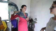 Gita Gavaani (3) (www.WeAreHum.org) Tags: textile nepal thread bobbins gandhi tulsi ashram school for women kathmandu sowing weaving winds threads mechanical loom wood shuttles feet arts
