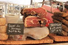 jambon (Sue Vergnes) Tags: corsica corse france marche market    jambon hum