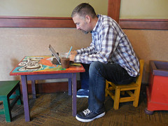 at the kids' table (kenjet) Tags: aurora colorado table kid kidstable kidtable me ken kenny kenjet ipad drinking break afternoon mini cariboucoffee