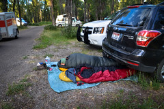 How to car camp (ma vie en rouge) Tags: wyoming grandtetonnationalpark car camping carcamping mike sleep warmexhaust