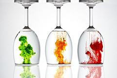 Colors (Ramakant Sharda Photography) Tags: color colors colorful glass water reflaction red green orange