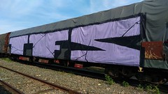 Tfs (keeskia) Tags: graff graffiti graffeur tag tagger tagueur bloc train wagondemarchandise fret bach sncf rail voieferre chemindefer loire rhonealpes france stetienne tfs crew