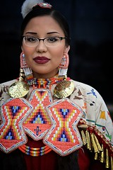 Red Jingle Dress 2 copy (queenbeaphoto@att.net) Tags: bymelissafrybeasley iicotpowwowofchampions redjingledress beautiful beadwork ndn nativeamerican glasses dancer people portrait lifestylephotography lifestyleportraiture