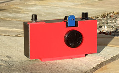 """""""Big Red's"""" first time (wheehamx) Tags: homemade camera big red electric shutter plastic lens"""