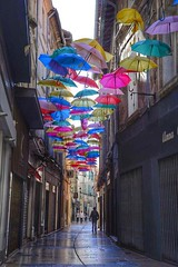A street in Avignon. Great idea with the umbrellas. Colorful Umbrellas Nikond610 Nikon Nikonphotography Streetart Streetphotography Art France Avignon at Avignon (mathiashollenstein) Tags: colorful umbrellas nikond610 nikon nikonphotography streetart streetphotography art france avignon