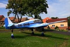 OK-DHG Aero 45, preserved in Rana, CZ (flyingaxel) Tags: aviation aero let 45 145 rana cz czech republic airplane