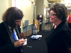 IMG_7050 (Grudnick) Tags: hbo npr waitwait donttellme paulapoundstone american standup comedian author actress interviewer commentator maryland frederick weinbergcenter tivolitheatre cindygarland ladygrudnick cd autograph