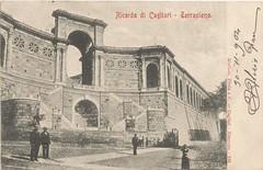 Cagliari_ricordo di cagliari Terrapieno_1904 (paolocogoni) Tags: sardegna cagliari cartolina antica vintage terrapieno bastione remy sardinia