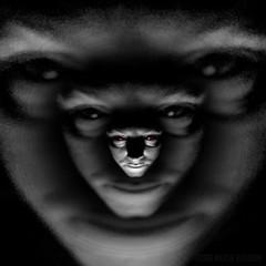 {                                                        } (MacroMarcie) Tags: square selfie selfportrait spooky spookylicious halloween face evil red grain quote dark darkness sylviaplath wah hereios werehere