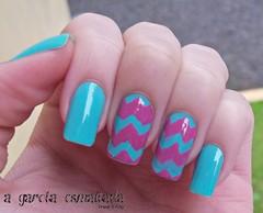 Nail Art: Unhas Gêmeas (Zigue-Zague) (A Garota Esmaltada) Tags: agarotaesmaltada unhas esmaltes unhasdecoradas unhasartísticas nails nailart naildesign nailpolish unhasgêmeas ziguezague azul blue rosa pink
