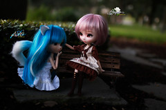 Aiding The Kitten (dreamdust2022) Tags: grape cute loving love sweet darling hug cuddles tender innocent smart playful pretty pure heart young pullip doll poison girl aiko chelsea kitty happy kiss charming