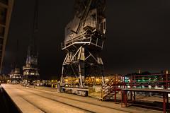 Bristol river side crane (technodean2000) Tags: bristol city river side dock crane night nikon d610 lightroom uk architecture people
