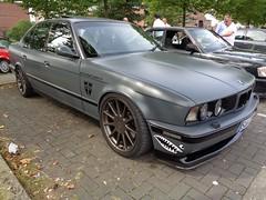 BMW E34 (911gt2rs) Tags: treffen meeting show event tuning tief low stance 5er bimmer 520i 525i 530i 535i m5 grau grey matt