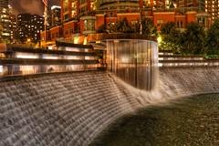 Urban Waterfall (Nick Fewings 4.5 Million Views) Tags: landscape canoneos7dmarkii nickfewings architecture sculpture manmade bricks curtain sheet water usa illinois chicago urban waterfall