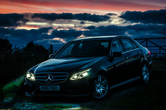 my motor on long mountain (Rob Williams & Nikon D7000) Tags: long mountain westbury shropshire nikon d7000 70200 f28 mercedes e300 hybrid amg