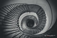 _MG_0499_web (Stadlmayr Photography) Tags: canon 6d uww 1740 wendel turm stiege bw schwarzweiss spirale stairway linz freinberg