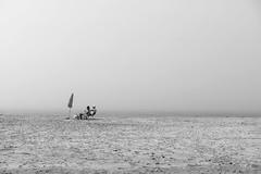 fog in Tarifa (Tobia Scandolara) Tags: tarifa andalusia spain espana minimal minimalism fog nebbia beach playa spiaggia blackandwhite sand sabbia seascape sea atlantic tobiascandolara tobia scandolara biancoenero bw bn scenery monochrome outdoor