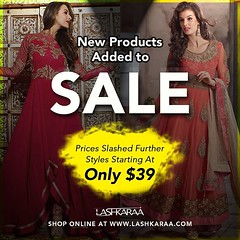 You definitely don't want to miss out on the deals currently going on in our SALE section (lashkaraafashion) Tags: anarkali salwarkameez saree