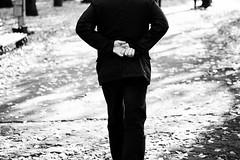 (nVa17) Tags: september autumn fall leaves leaf stranger strangers people man aman footpath path hands arms city perm         street streetphoto streetphotography blackandwhite blackwhite blackandwhitephotography