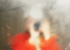 Red (PattyK.) Tags: me myself selfportrait nikon nikond3100 mirror reflection bath ilovephotography amateurphotographer photoscape καθρέφτησ steam μπάνιο κόκκινο red athome greece griechenland bathroom oof