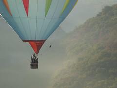 Dpart dans la brume **--- ---- (Titole) Tags: balloon montgolfire mist red blue titole nicolefaton valley montgolfiadesderocamadour morning thechallengefactory challengegamewinner