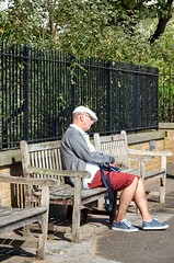 I'm just resting my eyes (sasastro) Tags: bench broadstairs holiday candid street kent uk