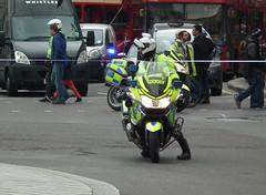 Met Police Bikers #2 (kenjonbro) Tags: uk england westminster rally trafalgarsquare police demonstration bmw motorcycle biker charingcross sw1 motorrad motobike metropolitanpolice r1200rt righttowork worldcars kenjonbro fujifilmfinepixhs10