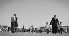 Marrakech Black and white (. . : : e L m - P h o t o g r a p h e r : : . .) Tags: life nikon hijab mosque maroc marrakech marrakesh simple menara rabat koutoubia yassine pepole jemaa elfna d3100 elmouhafid