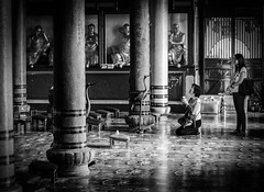 Let sincere faith be your bowing in prayer, and let the conquest of your mind be your objective in life. (Shadowdan7) Tags: bw white black temple buddha faith prayer religion sincere