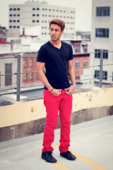 Ryan R. (KyleWillisPhoto) Tags: city boy portrait male rooftop fashion skyscraper canon pose skyscape eos rebel 50mm newjersey model friend parkinggarage modeling fashionphotography nj portraiture f18 trenton t3i 50mmf18 vneck 600d modelphotography kissx5