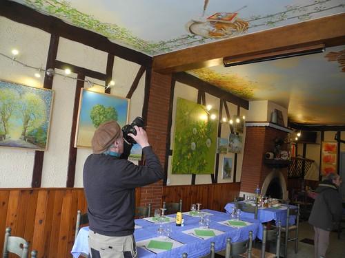 Plafond normand, restaurant du Chemin de Fer