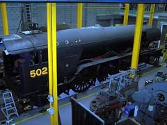 """FLYING SCOTSMAN"" under overhaul, NRM, York (colin9007) Tags: york london museum flying pacific north railway class steam national a3 sir eastern nigel 103 nrm scotsman 502 lner 4472 462 gresley 60103"