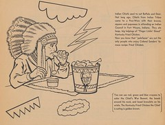 You Can Use Red, Green and Blue To Color The Chief's War Bonnet (The Cardboard America Archives) Tags: vintage book kfc coloring kentuckyfriedchicken 1965 colonelsanders