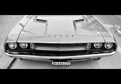dodge challenger r/t (Toni_V) Tags: bw monochrome car schweiz switzerland blackwhite suisse zurich zrich musclecar sep2 uscar 2013 amischlitten 130406 35mmf14asph dodgechallengerrt toniv leicam9 worldofcars l1011342