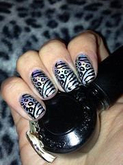 Leopard and zebra print design (SuzanneM7) Tags: art twilight image mercury nail plate polish layla holographic m58 konad uploaded:by=flickrmobile flickriosapp:filter=nofilter
