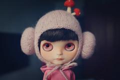 Mommy, look~ my hat mushrooms.