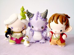 Group pic! : ) (mijbilcreatures) Tags: dragon vinyl micro custom hobbit bilbo thorin daenerys munny gameofthrones targaryen